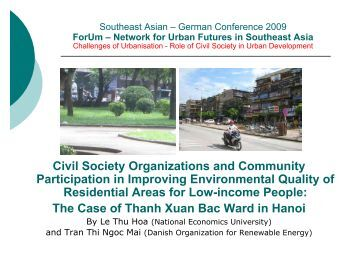 Dr.Hoa_CS Organization and Community Participation - Forum for ...