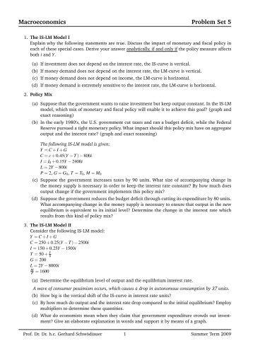 essay questions for macroeconomics