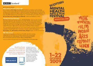 Film - Scottish Mental Health Arts & Film Festival