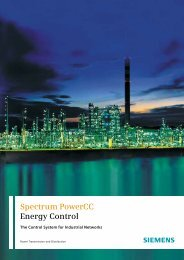 Spectrum PowerCC Energy Control - Siemens
