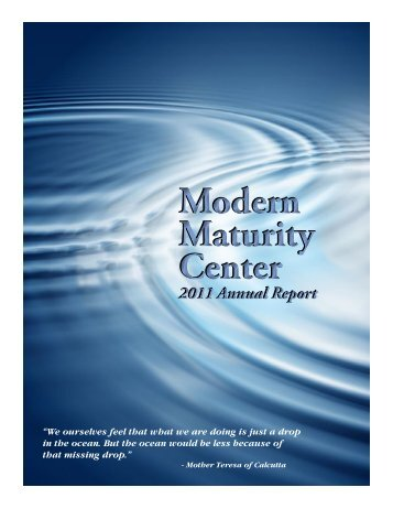 2011 Annual Report - Modern Maturity Center
