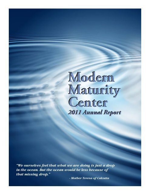 2011 Annual Report - Modern Maturity Center