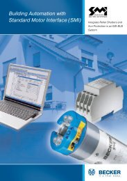 Building Automation with Standard Motor Interface (SMI) - Becker ...