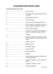Husorden for afdeling 72 Bentsens GÃ¥rd - Boligselskabet Sct ...