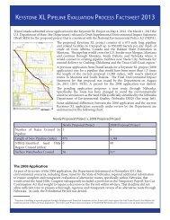 PDF version - Keystone XL pipeline - US Department of State