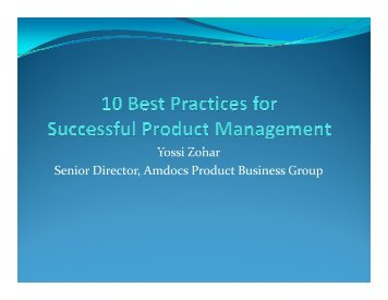 10 Best Practices for Successful Product Management - svpma