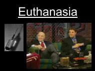 Christianity: the arguments against Euthanasia