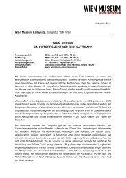 Presseinfo als pdf-File - Wien Museum