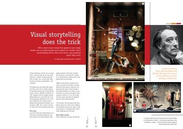 Visual storytelling does the trick - VMM