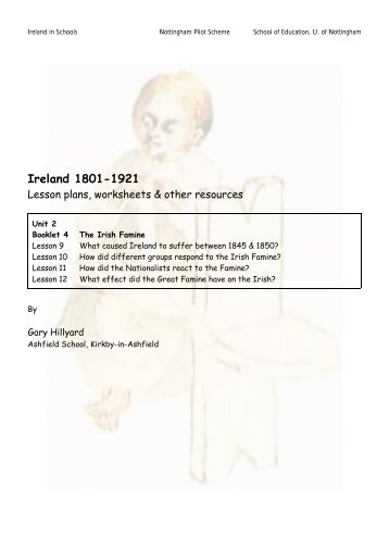 Booklet 4 The Irish Famine - Ireland in Schools