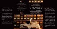 Locandina V Settimana di Studi Medievali