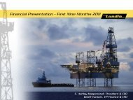 Financial Presentation - First Nine Months 2011 - Lundin Petroleum