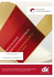 Internationale Ausschreibung Deutscher Verpackungspreis 2011 ...