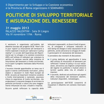 Il Programma del Seminario - UPI - Unione delle Province d'Italia