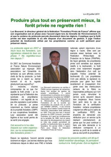 Produire plus tout en préservant mieux, la forêt privée ... - GIP-Ecofor