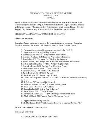 city council meeting essays