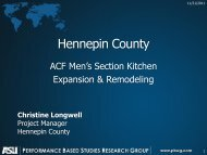 Hennepin County - Performance Based Studies Research Group