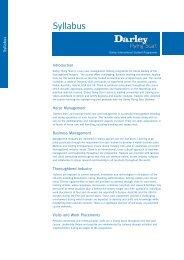 Syllabus - Darley Flying Start