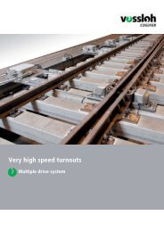 Vossloh Cogifer Very high speed turnouts