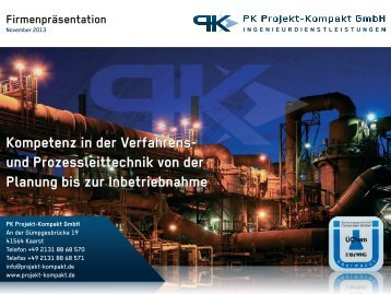 Kompetenz in der Verfahrens - PK Projekt-Kompakt GmbH