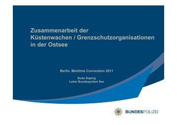 Zusammenarbeit der Küstenwachen ... - griephan.de