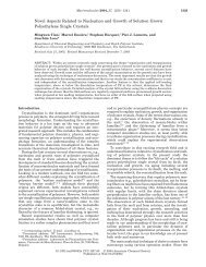 Novel Aspects Related to Nucleation and Growth of Solution Grown ...