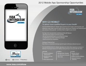 mobile app sponsorship - ISSA.com