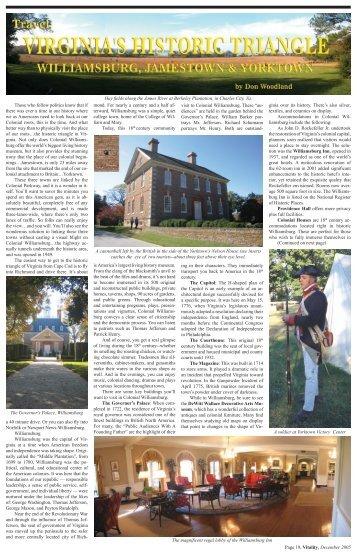 virginia's historic - Vitality Magazine Cape Cod