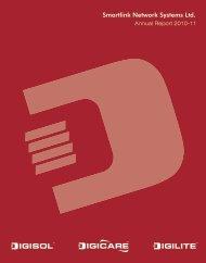 Smartlink Annual Report FY 2010-11 - Digisol.com