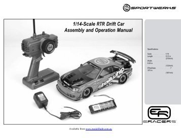 1/14-Scale RTR Drift Car Assembly and Operation ... - Model Flight