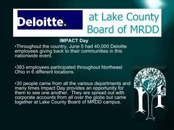 at Lake County Board of MRDD