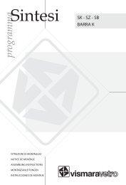 Istruzioni di montaggio - Vismaravetro Srl