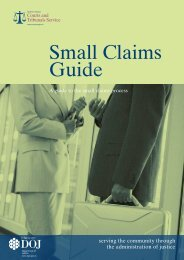 Small Claims Guide (PDF) - Northern Ireland Court Service Online