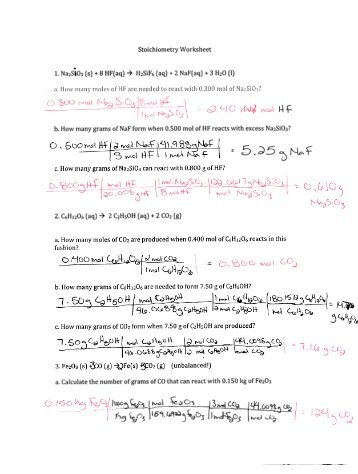 Stoichiometry Worksheet 2 Percent Yield Free Worksheets Library ...