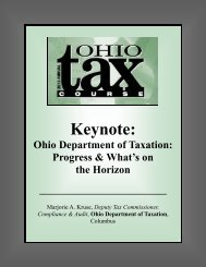 Ohio Department of Taxation: Progress & What's on the Horizon