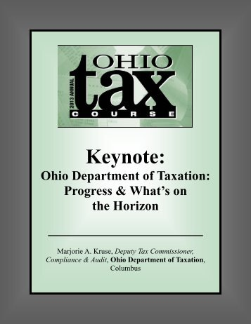Ohio Department of Taxation: Progress & What's on the Horizon