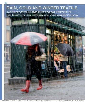 RAIN, COLD AND wINTER TEXTILE - Progedena