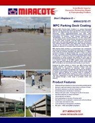 MPC Parking Deck Coating Brochure - Miracote