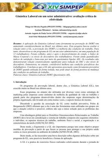 avaliação crítica de efetividade - Portal Saude Brasil . com