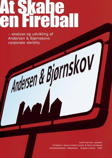 – analyse og udvikling af Andersen & Bjørnskovs corporate identity