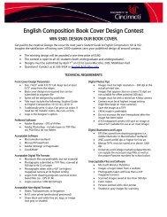 English Composition Book Cover Design Contest - McMicken ...