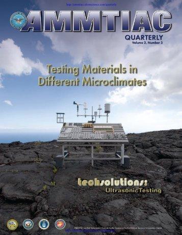 AMMTIAC Quarterly, Vol. 2, No. 3 - Advanced Materials ...
