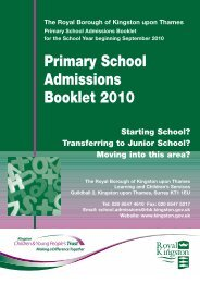 Primary Book Cover 2010 -  Royal Borough of Kingston