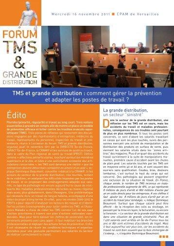 Synthèse – TMS et Grande distribution : comment gérer la ... - Cramif