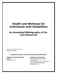Annotated Bibliography for Health and Wellness for People with ...
