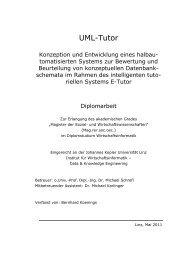UML-Tutor - Data & Knowledge Engineering - JKU