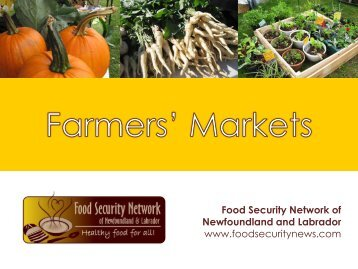 Farmers' Markets Presentation - The Food Security Network of ...
