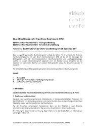 Qualifikationsprofil Kauffrau/Kaufmann EFZ