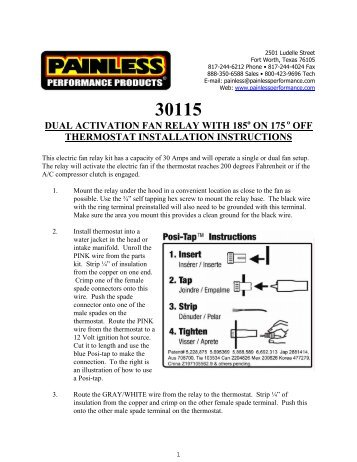 dual activation electric fan relay kit painless wiring?quality=85 dual fan wiring harness kit (fan pro) wester's garage
