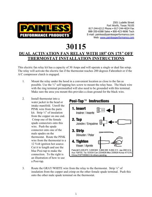painless wiring fan relay kit index listing of wiring diagramsdual activation electric fan relay kit painless wiring